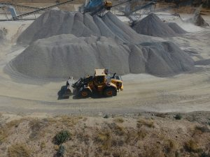 Heaps of Sand Stones at Mining Site