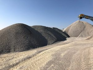 Heaps of Sand at Sand Mining Pit