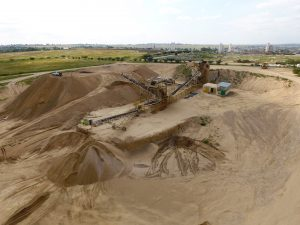 DJI Aerial view of Sand Processing Plant