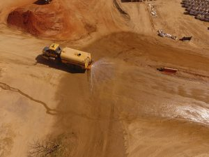 DJI Top View of Sand Mining Site