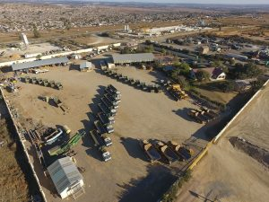 DJI Top View of Gomes Sand Fleet parked
